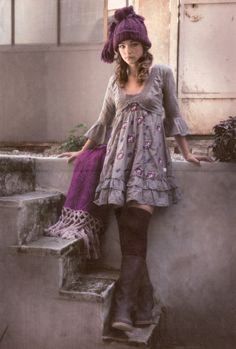 Odd Molly dress with roses in Castros Germany, October 2009
