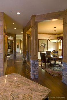 House Plans - Home Plan Details : Luxury Living.I like that you step down into the living room Two Story Fireplace, House Plans With Photos, Large Laundry Rooms, Luxury House Plans, Plan Design, Luxury Living, Great Rooms, Future House, Luxury Homes