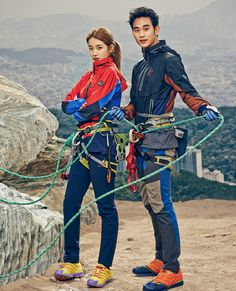 Kim Soo Hyun  Suzy's Adventurous Date Indoors For BEANPOLE OUTDOOR's Spring 2014 Lookbook | Couch Kimchi