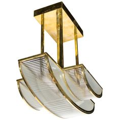 Streamline Art Deco Style Chandelier in the manner of Petitot   From a unique collection of antique and modern chandeliers and pendants  at http://www.1stdibs.com/furniture/lighting/chandeliers-pendant-lights/