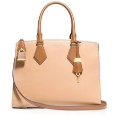 Michael Kors Satchel - Casey Large Tri-Color ($896) ❤ liked on Polyvore