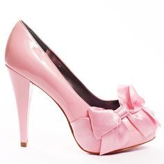 bow inspired heels in pink ❤