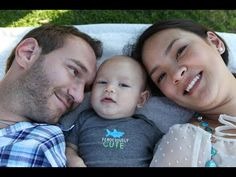 """Born without limbs, Nick Vujicic often wondered if he'd ever find true love. But Nick met Kanae and together they share about their """"love without limits."""" Be inspired! Nick Vujicic, Christian Jokes, Christian Videos, Love Without Limits, Christian Motivation, Finding True Love, Godly Man, Youtube, Praise God"""