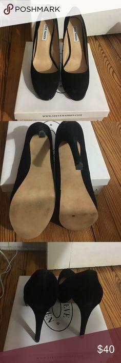 Steve Madden Suede  Stokker SZ 10 Steve Madden Stokker Suede Shoes SZ 10 ...worn only once includes box Steve Madden Shoes Heels