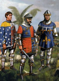 Jean le Boucicaut the Marshal of France with Charles d'Albert, Constable of France and Charles the Duke of Orleans at Agincourt, Hundred Years War