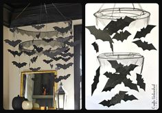 DIY Halloween Bat Chandelier Tutorial - Crafts Unleashed
