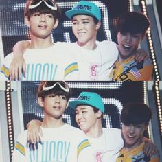 V, Jimin and J-Hope