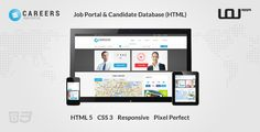 CAREERS – Job Portal & Candidate Database (HTML) –   CAREERS is a Job Portal Template that includes a Candidate Database & Job Listing with advanced options that enable efficient filtering Demo: http://uouapps.com/portfolio/careers/bar/?theme=uouapps