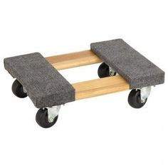 """Mover's Dolly 1000 lbs. weight capacity, 18"""" L x 12-1/4"""" W - Use this mover's dolly to save your back when transporting heavy boxes or moving furniture or other big items. Your hard work will be easier when you use our mover's dolly to get things rolling. Carpeted surfaces protect finishes. Non-marring, hard-rubber swivel casters and a heavy-duty hardwood ..."""