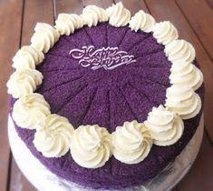 Ube Macapuno Cake Recipe (Updated Version). Chiffon cake: cake flour, baking powder, ube (purple yam), violet food powder, oil. Frosting: cream cheese, whipping cream, macapuno (coconut sport). Filipino cake. Heart Of Mary blog