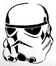 Star Wars Stormtrooper Black Vinyl Window Decal