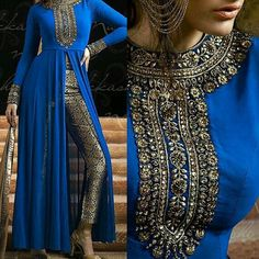 Bollywood fashion 727261039807564429 - Nakkashi Georgette Semi Stitched Designer Suit In Blue Colour Source by perledesoit Pakistani Couture, Indian Couture, Pakistani Outfits, Indian Outfits, Pakistan Fashion, India Fashion, Ethnic Fashion, Indian Attire, Indian Wear