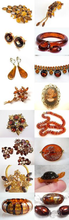 Root Beer - A Long Sip of Vintage Jewelry by Ann on Etsy--Pinned with TreasuryPin.com