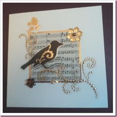 Bird with Music Card