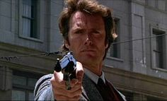 """""""I know what you're thinking. Did I fire six shots or only five? To tell you the truth, I forgot it myself in all this excitement. This here's a .44 Magnum, the most powerful handgun in the world, and it can blow your head clean off. Now, you must ask yourself one question. Do I feel lucky? Well, do you, punk?"""" Dirty Harry"""