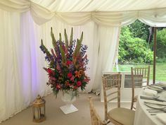 Venue Decorations | Vickys Flowers - Wedding Flower service with style and creativity | East Calder , West Lothian Flower Service, Wedding Flowers, Creativity, Table Decorations, Furniture, Home Decor, Style, Homemade Home Decor, Home Furnishings