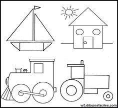 English Activities For Kids, Color Shapes, Preschool Worksheets, Homeschool, Diagram, Fancy, How To Plan, Holiday Decor, Drawings