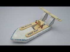 How to Make a Boat with Popsicle Sticks and Rubber Band - DIY Craft - Handmade with Ice-cream Sticks - YouTube