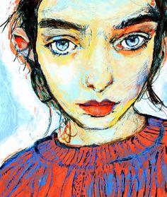 Artist Danny Roberts Portrait of Irish Fashion Model Laura O'Grady