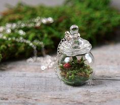 really tiny terrarium necklace