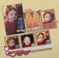 5 photo 1 page Kim Holmes -smile please layout