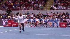 12/7/15 IPTL 2015 Match 10: Point of the Match (Women's Singles set). Serena Williams of the Philippine Mavericks vs Kurumi Nara of the Legendari Japan Warriors:
