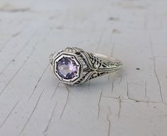 1CT Genuine Amethyst Sterling Silver Victorian Style Filigree Ring Sz 5.75 in Jewelry & Watches, Fashion Jewelry, Rings   eBay