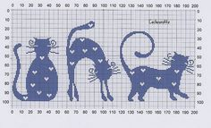 Cross-stitch Cat with Flowers. no color chart available, just use the colors on pattern chart as your guide. Cross Stitch Baby, Cross Stitch Animals, Cross Stitch Charts, Cross Stitch Designs, Cross Stitch Patterns, Chat Crochet, Crochet Cross, Cross Stitching, Cross Stitch Embroidery