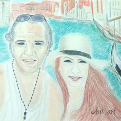 #rajz #portré #pasztell