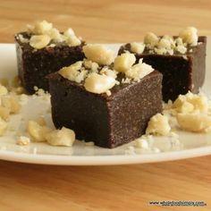 Raw chocolate fudge.