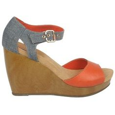 Dr. Scholl's Women's Milestone Sandal - want in red/chambray, tan, and navy stripes!!