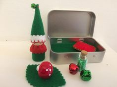 Christmas Elf Play Tin - A Gnome on the Go! Perfect for imaginative play and story telling. Waldorf inspired. Sold through Etsy (simplylittlecraft).