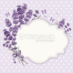 Cute vintage greeting or invitation card with hand drawn floral elements in engraving style - fragrant lavender. Diy And Crafts, Paper Crafts, Shabby Chic Wall Decor, Borders And Frames, Free Vector Art, Vector Graphics, Graphics Vintage, Vintage Logos, Retro Logos