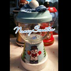 Snowman Christmas gumball jar made by NancySinatra 2015
