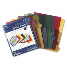 Cardnl - Cardinal Expanding Pocket Multicolor Index Dividers Tab,Trs (Pack Of Plastic Binder, Binder Dividers, Home Office Furniture, Letter Size, Lettering, Pocket, Dorm Stuff, Tween, School Stuff