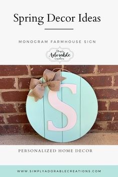 Our Shiplap Monogram Sign is the perfect addition for any farmhouse décor lover. This sign can be customized in your color choice with your initial. Initial Door Hanger, Door Hangers, Farmhouse Décor, Monogram Signs, Rustic Home Interiors, Bride And Groom Gifts, Rustic Style, Rustic Decor, Cool Furniture