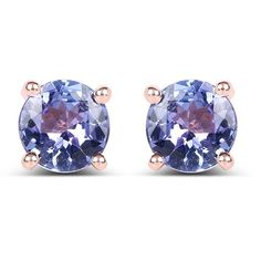 Rose Gold Tanzanite Stud Earrings - Joy of London Jewels Tanzanite Earrings, Gemstone Earrings, Stud Earrings, Silver Earrings, Silver Ring, Diamond Earrings, Gold Chains For Men, Best Jewelry Stores, Ring Stores