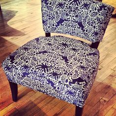 A great chair @R_AllenDesign in our Kings Walk Ultramarine.
