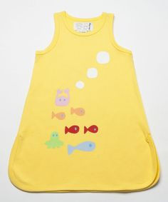 Look what I found on #zulily! Yellow Fish Swing Dress - Infant, Toddler & Girls #zulilyfinds