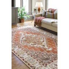 Surya Zeus Southwest Rust/Mocha Area Rug & Reviews | Wayfair