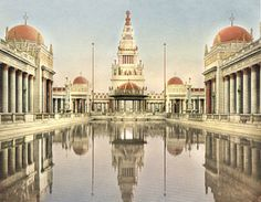 A glorious view of some of the buildings at the fairground, Panama-Pacific Exposition, San Francisco.
