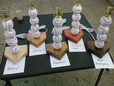 Baseball Lamp.  Made with real baseballs by SSCElkhart on Etsy, $27.00