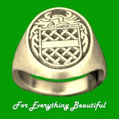 Knight Series Raised Relief Coat of Arms 10K Yellow Gold Mens Ring