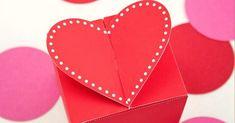 Как сделать подарочную коробочку с сердцем