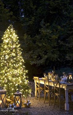 a styling from several years ago that was all about coastal elegance and a beautiful outdoor tree for a holiday dinner party. And in case you missed my previous post- sharing how you can give back this and make a difference. Christmas Tree On Table, Best Christmas Lights, Decorating With Christmas Lights, Christmas Table Settings, Outdoor Christmas Decorations, Christmas In July, Light Decorations, White Christmas, Merry Christmas