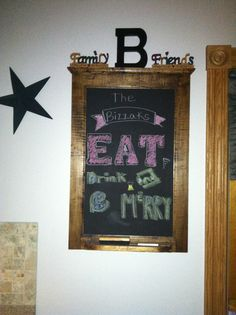 Chalkboard quote