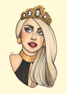 Lady Gaga fanart by the great Helen Green!