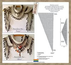 Another way to embellish a basic type crochet baktus scarf ~ with chart