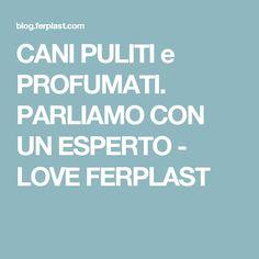 CANI PULITI e PROFUMATI. PARLIAMO CON UN ESPERTO - LOVE FERPLAST