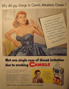 Maureen O'Hara Cigarette Ad